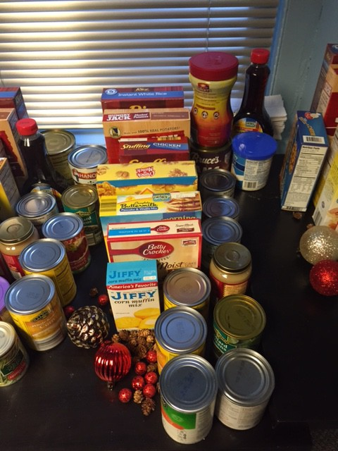 Food donations for families